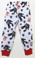 Transformers Boys White Cotton Pajama Pants Bottoms Size 4