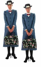 Licensed Mary Poppins Costume Disney Adults Ladies Fancy Dress Outfit