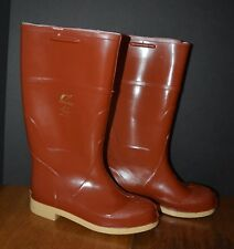 """New listing Men's Onguard Steel Toe Rubber Work Boots 6M 14"""" Polyurethane / Pvc Brick Red"""