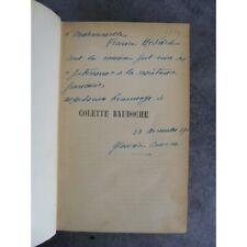 Dédicace de Barrès sur Colette Baudoche Emile Paul Frère 1917 Les bastions de L'