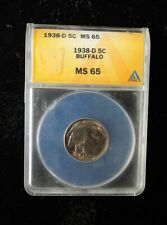 1938-D  'Buffalo Nickel' - MS65 - ANACS