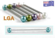 NEW /& SEALED White Metallic Pearl Scaffold Industrial Bar Barbell