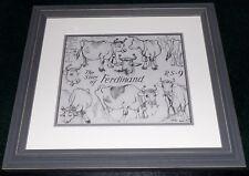 Disney Story Of Ferdinand The Bull Framed Original Production Model Sheet 1938