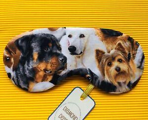 Eye Sleep Mask Dog Lover Walker Gift Soft Cotton Travel Blackout Relax UK Made