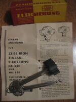 Einbausicherung Zeiss IKON 542 / 3102 Werkhöhe 16mm + 3 lange Kreuzbartschlüssel