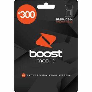 Boost $300 Prepaid SIM Starter Kit - Unlimited calls + 240GB Data for 12 Months