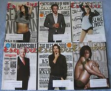Lot of 23 Esquire Magazine Issues 2010 2011 2012 2013 Bill Clinton