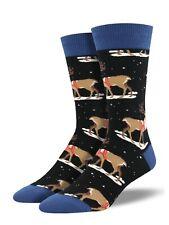Socksmith Invierno Reno Calcetines para hombre Hombre Chicos Novedad Regalo Negro Navidad Nuevo