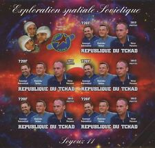 Soviet Spatial Exploration Space Soyouz 11 Imperforated Sov. Sheet  of 5 St