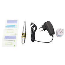 New Permanent Makeup Tattoo Eyebrow Pen Machine 50 Needles Tips Silver C-77