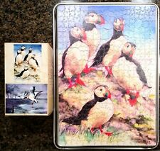 Vintage 1990 British Double-Sided Wooden Jigsaw Puzzle ~500 Pieces Bird Theme