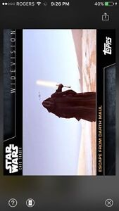 Topps Star Wars Digital Card Trader Escape From Darth Maul Widevision 2 Insert