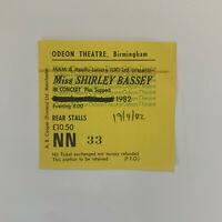 Shirley Bassey 19 September 1982 Birmingham Odeon concert ticket stub
