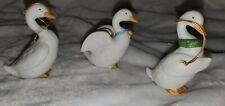 Homco 5255 Set Of 3 Vintage Geese Ornaments