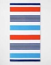 "Sun Squad Beach Towel Red White Blue Stripe 32"" x 62"""