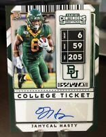 2020 Panini Contenders Draft - JAMYCAL HASTY - College Ticket - RC Auto (4226