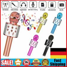 Bluetooth Karaoke Mikrofon Tragbares Handmikrofon für Kinder und Erwachsene DE
