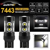 7443 7440 T20 2800LM 50W CREE LED Backup Reverse Light Bulb Super White 6000K X2