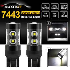 7443 7440 T20 2800LM 50W CREE LED Backup Reverse Light Bulb Super White 6000K X2