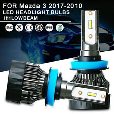 1Pair Low Beam LED Headlight Bulbs Kit H11 For Mazda 3 2017-2010