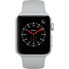 NEW APPLE WATCH SERIES 3 42MM SILVER ALUMINUM CASE FOG SPORT BAND GPS + CELLULAR