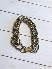 Vintage Gold Tone Bracelet Signed ENCO