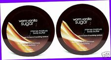 2 Bath & Body Works WARM VANILLA SUGAR Intense Moisture Body Butter Lotion Cream