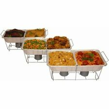 Buffet Serving Party Tray 24 Piece Food Set Catering Aluminum Warmer Chafing