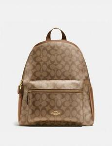 Charlie Backpack In Signature Canvas Coach  F58314    RRP £475