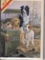 Dogs In Back Of A Landrover Jeep Greetings Card birthday Rothbury nostalgia