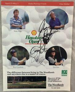 Signed Golf Program 1994 Houston Open Golf Program PGA Tour Pro Golf