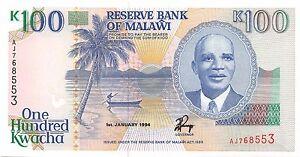 Malawi 100 Kwacha 1994 Unc Pn 29b