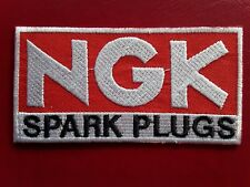 NGK SPARK PLUGS CLASSIC MOTORSPORT RALLY CAR PARTS EMBROIDERED PATCH UK SELLER