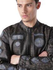 Diesel L-cobain Black Leather Jacket Size M 100 Authentic