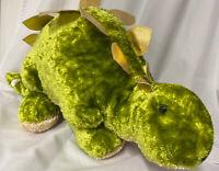 "Stegosaurus Dinosaur Plush Stuffed Animal Green Gold 27"" Long Soft"