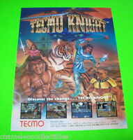 TECMO KNIGHT By TECMO VINTAGE 1989 VIDEO GAME MAGAZINE ADVERTISING ARTWORK AD