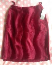 Womens H&M Wine Office Skirt Size 8 New