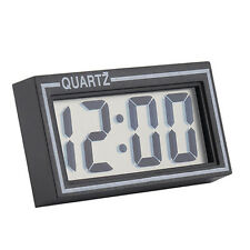 Digital LCD Table Auto Car Dashboard Desk Date Time Calendar Small Clock Happy