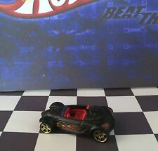 Hot Wheels 2010 Mystery Car 228 Hyundai Spyder Concept Flat Black PR5/gold