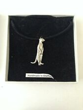 Meerkat PP Pewter Pendant on a  BLACK CORD  Necklace