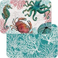 New listing Ocean Finds Reversible Easy Care Set of Four Placemats, Made in The Usa