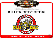 KILLER BEEZ INSIDE DECAL VARIOUS SIZING  ski-doo rev xp xr