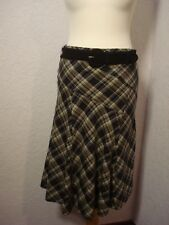 Principles petite grey & green tartan check skirt with belt 10