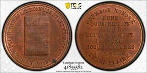 Undated Canada Jos. LeRoux Token PCGS MS64 Brown Lot#G1157 Nice UNC! Breton-585