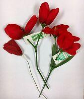 Vintage Red Millinery Floral Hats Christmas Decor Embellishment