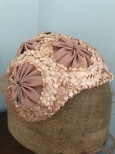 Vintage Ladies 1940/50s Pink Woven Hat