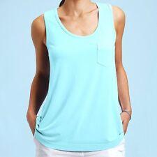 FRESH PRODUCE XL Seaglass BLUE Siesta Key Stretch Knit TANK Top NWT New XL