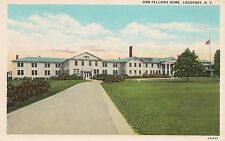 Odd Fellows Home in Lockport NY Postcard