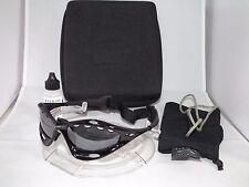 OAKLEY POLARIZED WATER JACKET Sunglasses 04-678 Jet Black / Black Iridium VTG
