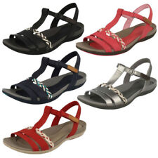 Flat (0 to 1/2 in) Wedge Leather Sandals for Women